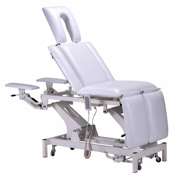 Behandlungsliege / Fußpflegestuhl 002330 weiß