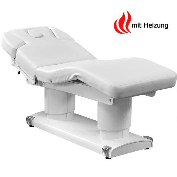 003838H Table de massage blanche avec 4 moteurs chauffants et mémoire