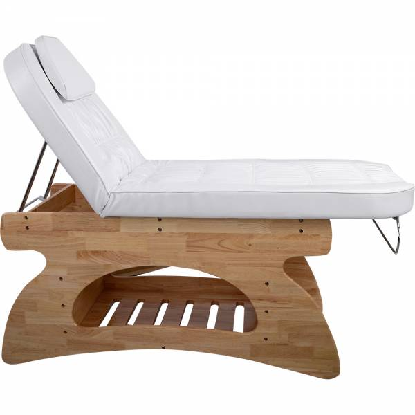 Massageliege Behandlungsliege 000212 braun / weiss