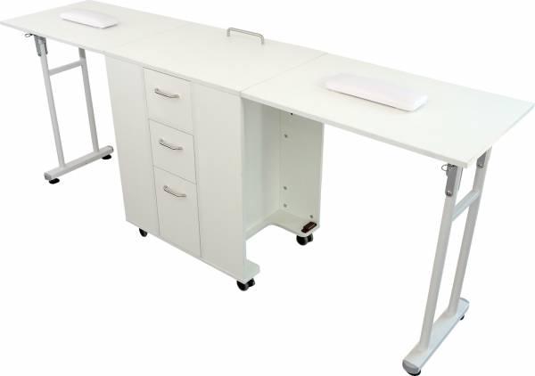 Manikürtisch MT3903 Klapptisch weiß Schreibtisch