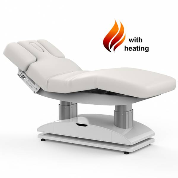 003838H massage table white with 4 motors heating