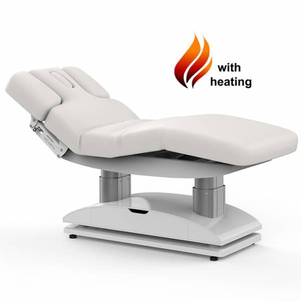 003838H Table de massage blanche avec 4 moteurs chauffants