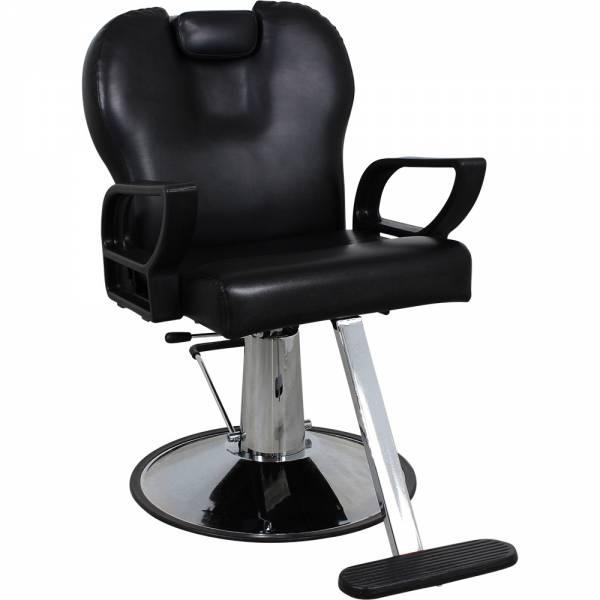 Friseurstuhl s53848 schwarz mit verstellbare Rückenlehne-Copy