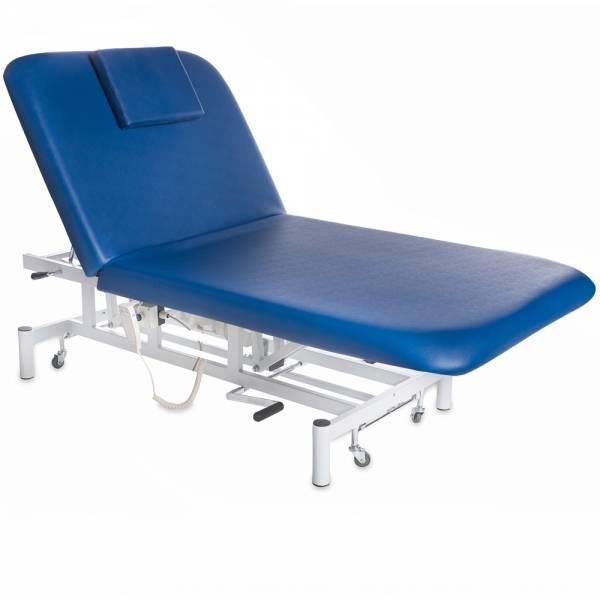 078280 Blau elektische Bobathliege / Behandlungsliege