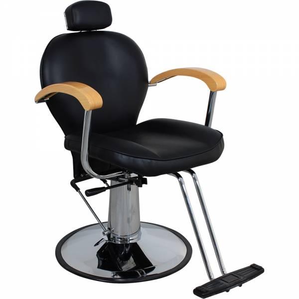 Friseurstuhl s53821 schwarz mit verstellbare Rückenlehne