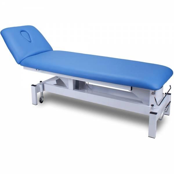 Behandlungsliege, Therapieliege, Massageliege mit Rundumschaltung blau
