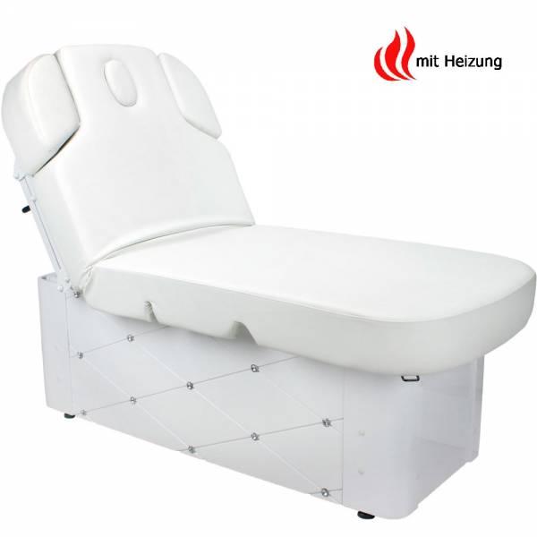 003370-3H Massageliege Wellnessliege Weiß mit Heizung & Memory