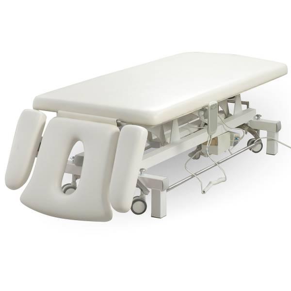 00S807 Massageliege Behandlungsliege weiß mit Rundumschalter