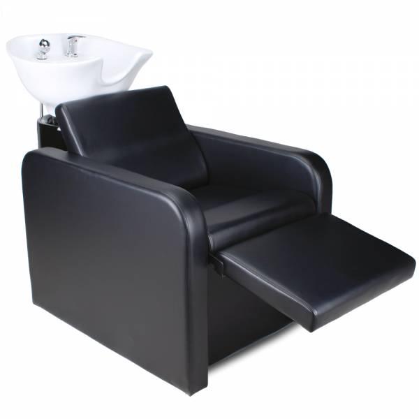 255577 Friseurwaschsessel mit elektrisch ausklappbare Fußstütze