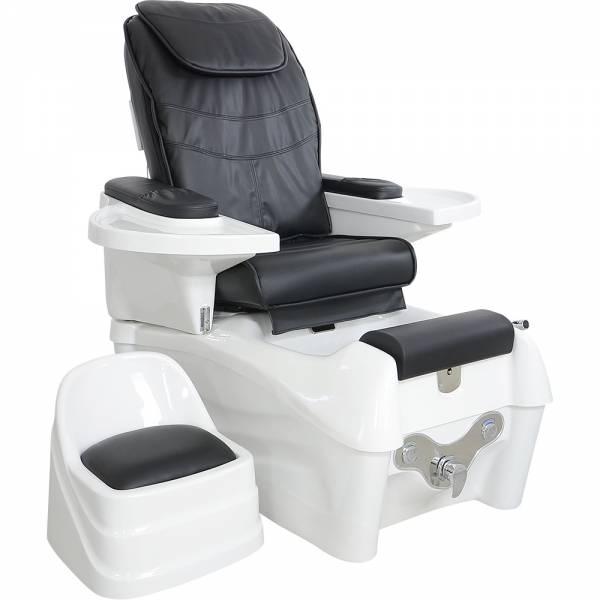 Fußpflegesessel F05905 elektrisch mit Rückenmassagefunktion schwarz / weiß