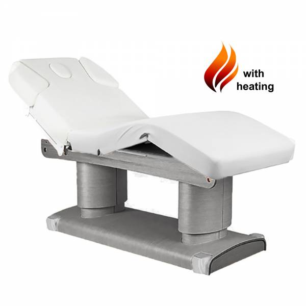 023838H Massage table gray / white with 4 motors heating and memory