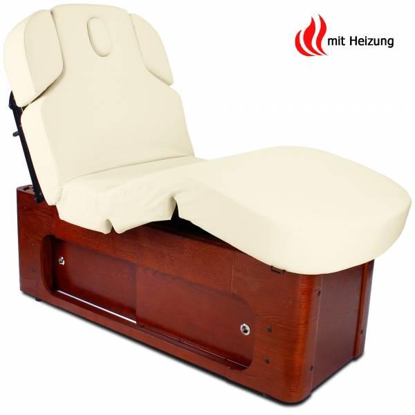 Massageliege 033361-3H creme / braun mit Heizung und Memory