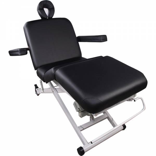153336 schwarz Vollelektrische Behandlungs- Massageliege mit 3 Motoren