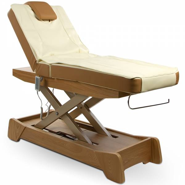 010208 Wellnessliege Massageliege braun / creme