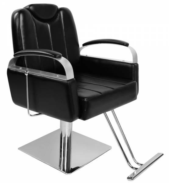 Friseurstuhl 205523 schwarz mit verstellbare Rückenlehne