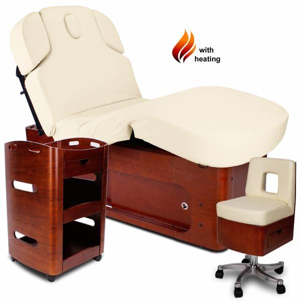 Massagekabine 933361-3H creme / braun mit Heizung und Memory