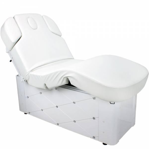Massageliege 003370-3 Wellnessliege mit Memory Weiß