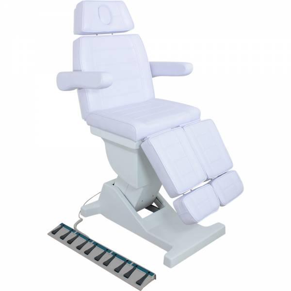 F0273b Fußpflegestuhl weiß 5 Motoren mit Fußsteuerung
