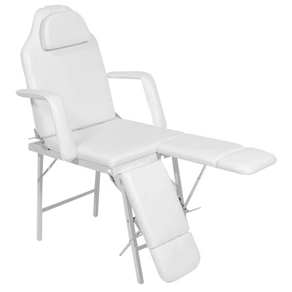 Portable pedicure chair - cosmetic bed 120261d white