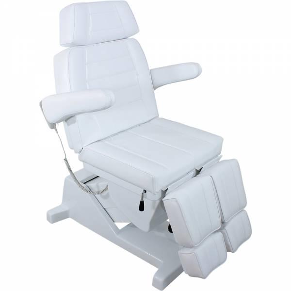 Fußpflegestuhl F0867-3a weiß mit 3 Motoren